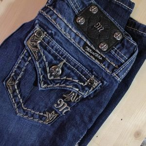 Miss Me Skinny Youth size 14, Dark wash jeans!